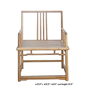 Natural Raw Wood Square Back Armchair Acs368