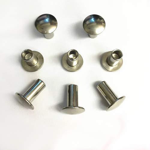 30Pcs M4 Half Hollow Rivets Round/Truss/Mushroom Head Rivet 304 Stainless Steel 4-20mm Length Button Head semi-Tubular Rivet (Dimensions: M4 x 10mm) by AIBOAT