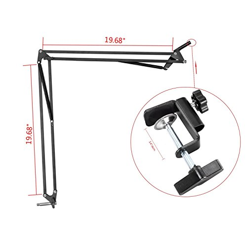 43.3'' Desk Clamp Mount Suspension Boom Scissor Arm Swivel Stand Holder for Logitech Webcam C922x C922 C930e C930 C920 C615 by AceTaken (Image #2)