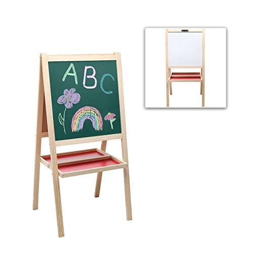 MyGift Deluxe Standing Whiteboard Chalkboard
