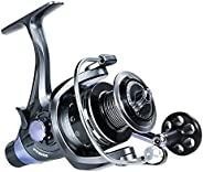 KWELLK Spinning Fishing Reel with Front and Rear Drag, Stainless Fishing Reels with Left/Right Interchangeable