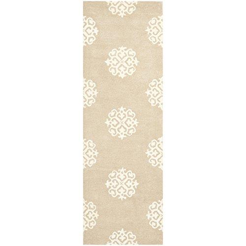 Safavieh Soho Collection SOH724B Handmade Beige and Ivory Premium Wool Runner (2'6