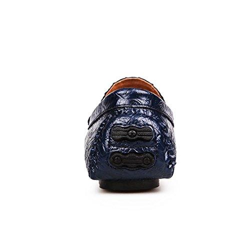 Miyoopark - Mocasines de Piel para hombre Azul