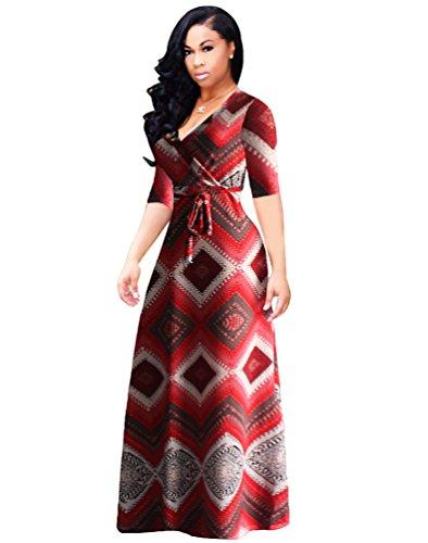YiLianDa Vestido de Verano Largo Maxi Falda Mujer Casual Elegante Playa Corta Mangas como la imagen