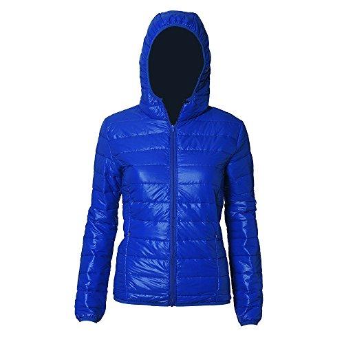 Invernale Elegante Piumino Giacca Puffer Sciolto Outwear Cotone Homebaby Parka grosso Donna E Cappuccio Imbottito Corto Autunno Cappotto Calda Blu wYdPxH5nx4