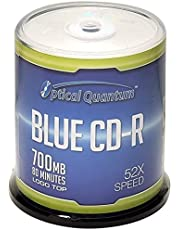 Optical Quantum Blue AZO CD-R 700MB 52X Recordable Media Disc 100pk Spindle OQCD52BLT-BX