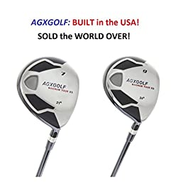 AGXGOLF Men's MAGNUM 7 + 9 Fairway Utility Woods Set: Graphite Shafts + Head Covers Right Hand, Cadet, Regular or Tall Length, Senior, Regular or Stiff Flex