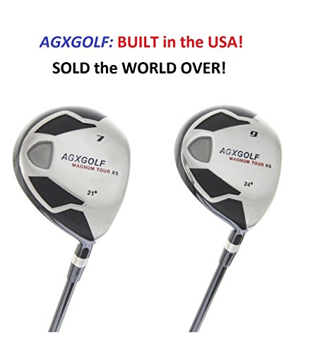 7 + 9 Fairway Utility Woods Set: Graphite Shafts + Head Covers Right Hand, Senior Flex, 2X-Tall Length (+2.0