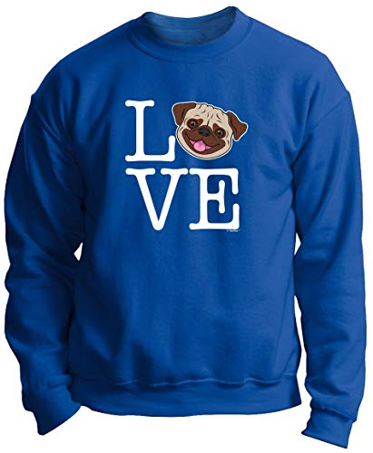 Pug Dad Gifts Cute Dog Related Gifts Dog Apparel Love Pug Clothes Pug Dog Gifts Pug Premium Crewneck Sweatshirt 3XL Royal