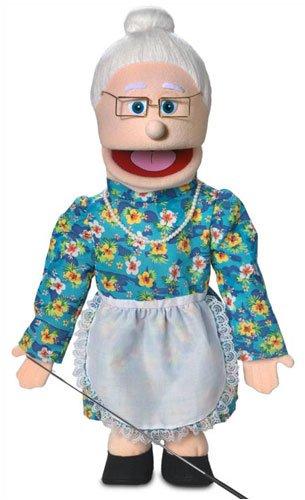 25'' Granny, Peach Grandmother, Full Body, Ventriloquist Style Puppet