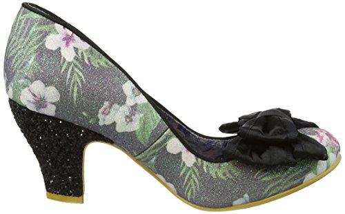 Irregular Choice Damen Ban Joe Pumps Schwarz (Black Floral)