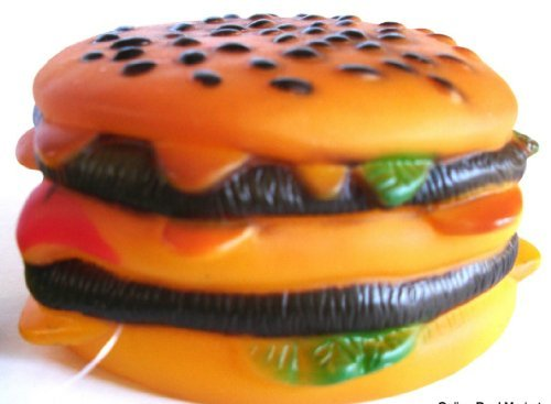 cheese burger dog toy - 2