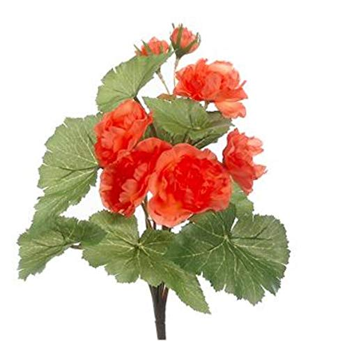 13-Coral-Begonia-Bush-Greenery-Filler-Silk-Wedding-Flowers-Plant-Decor