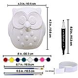 4 Sets DIY Ceramic Owls Figurines Paint Craft Kit