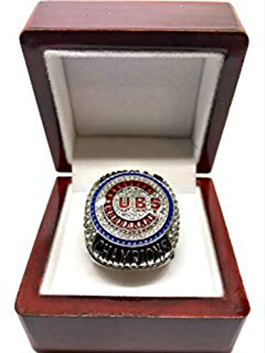 - crystal 1st store 2016 Chicago Cubs World Series Ring Replica (Engraved) Size 8-14 (Rizzo, 13)