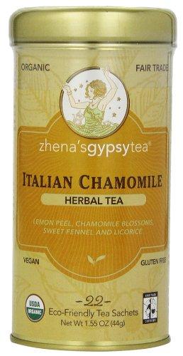 Zhena's Gypsy Tea, Italian Chamomile, 1.55 Oz, 22 Count Tea - Zhena Tin Gypsy