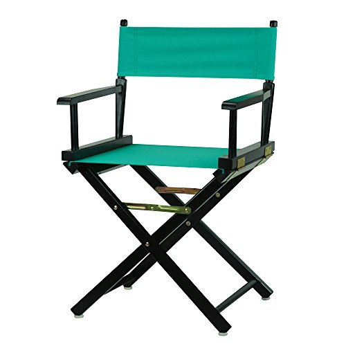 Casual Home 18'' Director's Chair Black Frame with Teal Canvas by Casual Home