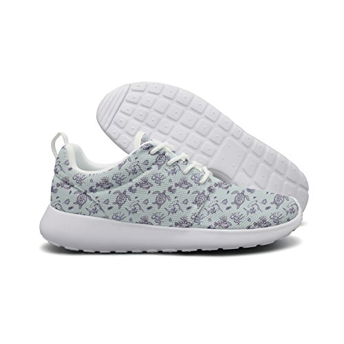 Price comparison product image Saerg Bearry Women's Cute Sea Turtle Lightweight Mesh Running Shoes Print Sneakers