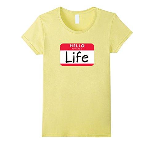 Womens Pun Halloween Costume Shirt - When Life Gives You Lemons Small Lemon