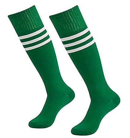 westeng 1 par hombre mujer long-barreled rayas calcetines de animadora de fútbol baloncesto deportes