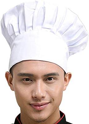 Hyzrz Chef Hat Adult Adjustable Elastic Baker Kitchen Cooking Chef Cap 8f02fcbe5190