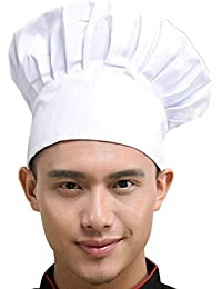 Chef Hat Adult Adjustable Elastic Baker Kitchen Cooking Chef Cap, White