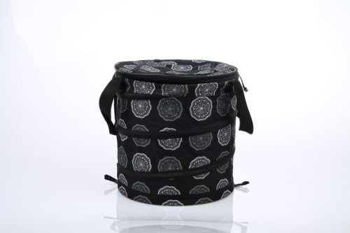sachi-black-medallion-insulated-fashion-pop-up-cooler