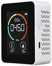 Fltaheroo Temperatuur & Vochtigheidsmeter, Luchtkwaliteit Monitor, CO2 Detector, 3-in-1 digitale luchtverontreiniging Kooldioxide Detector A