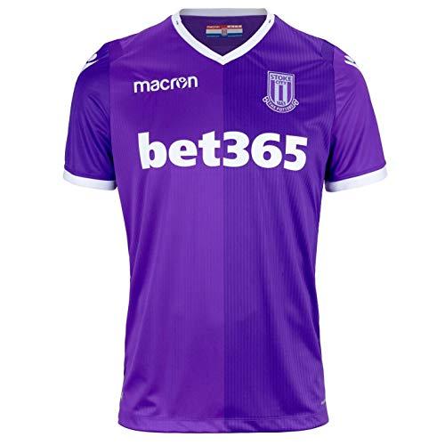 Macron Stoke City Away Jersey 2018 2019 Mens Purple Football Soccer Shirt Top ()