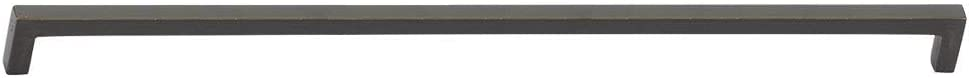 """Emtek Rustic Modern Appliance Pull Available as Single, Concealed Surface (CS), or Back to Back (BTB) in 2 Sizes and 3 Finishes - 86675MB - (Center to Center 18"""") - Medium Bronze (MB)"""