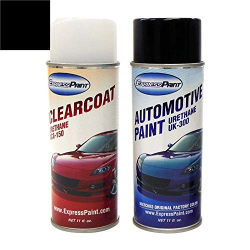 ExpressPaint Aerosol - Automotive Touch-up Paint for Toyota Corolla - Black Sand Pearl 209 - Color + Clearcoat Package (Toyota Black Sand Pearl Touch Up Paint)