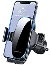 [2021 Upgraded-2nd Generation] Miracase Universal Phone Holder for Car,Vent Car Phone Holder,Cell Phone Holder Mount Compatible with iPhone 13 Series/12/11/XS/XR,Google,Samsung and All Phones,Black