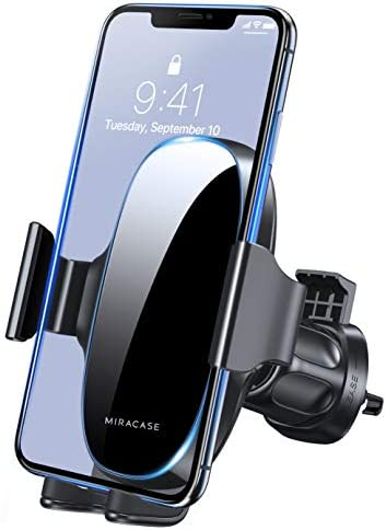 [2020 Upgraded-2nd Generation] Miracase Universal Phone Holder for Car, Air Vent Car Phone Holder Mount Compatible with iPhone 11/11 Pro Max/SE/XR/XS/8 Plus/Samsung S20 Ultral and All Phones,Black