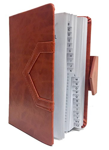 2018 Dinira Password Journal Notebook 4.5 X 6 Inches, Bonded Leather, Sewn Binding & Magnetic Closure with a Guide to Hiding Your Passwords in Plain Sight