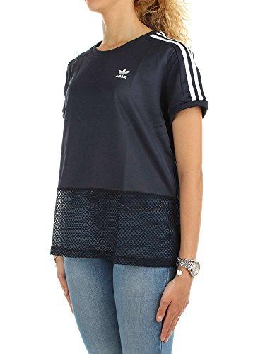 adidas T-Shirt Osaka Bleu/Blanc Taille: 40 M (Medium)