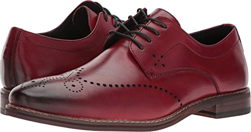 Red Wingtip - Stacy Adams Men's, Alaire Lace up Wingtip Oxfords Cranberry 7.5 M