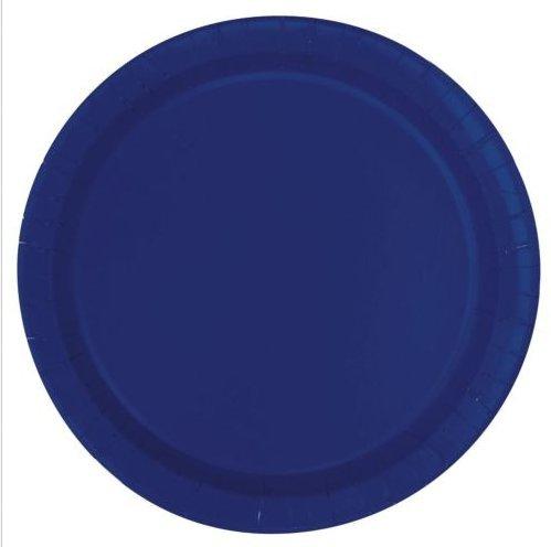 Navy Blue Paper Cake Plates, 20 pcs
