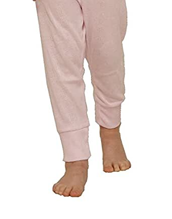 Octave Girls Thermal Underwear Long Jane/Long Johns/Long Underwear (12-13 yrs [Waist: 24.5 inches], Pink)