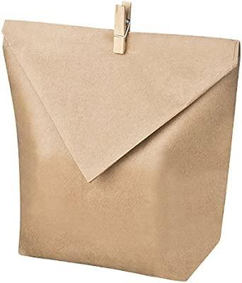 Juego de 24 bolsas de papel kraft para llenar uno mismo, para proyectos de manualidades, calendario de adviento, regalos para invitados, etc.