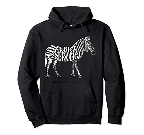 Zebra Strong - Ehlers Danlos Syndrome EDS Awareness Pullover Hoodie