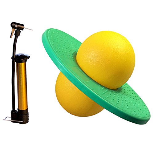 Pogo Ball with Large Pump- GreenMoon Lolo Ball (green&yellow)