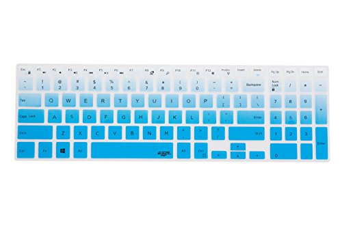 Leze - Ultra Thin Keyboard Cover for 15.6 Inch Dell Inspiron 15 3000 & 5000,Inspiron 17 5000,Inspiron 15 3558 i3567 i5547 i5548 i5566 i5558,Inspiron 17 i5749 i5758 i5759 Series Laptop - Gradual Blue