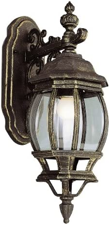 Bel Air Lighting Trans Globe Imports 4053 BC One Light Wall Lantern from Francisco Collection 11.00 inches, Black Copper