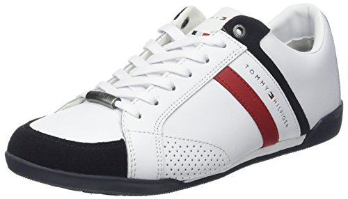 Material Hilfiger Corporate Basses Blanc Cupsole Mix Homme White 100 Tommy Sneakers qAxwCUqE