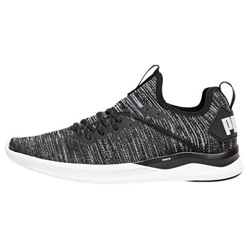 Puma Ignite Flash Evoknit Running Shoes   Mens   Black Asphalt White   Uk Shoe Size 10