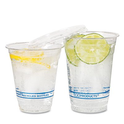 Eco Epcr9pk Recycled Content Clear Plastic Cold Drink Cups 9 Oz. Clear 50Per Pack EPCR9PK