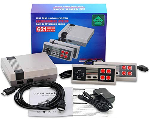 - Classic Retro Game Consoles HDMI Video Game Mini TV Game Console Built-in 621 Classic Family Games with Dual Controllers Entertainment System Classic Edition