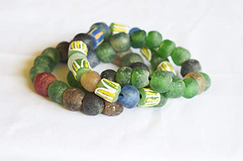 African stretch bracelet, African beaded jewelry,Bracelet set, African trade beads, Christmas gift, Trade bead jewelry, Unisex bracelet, Christ has gift for men, Recycled glass beads, Beaded jewelry,