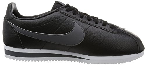 Nike Classic Cortez Leather, Scarpe da Corsa Uomo Nero (Black/Dark Grey/White 011)