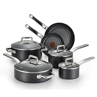 T-Fal/Wearever 10 Piece Professional Cookware Set, Multi, Black